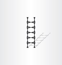 Step ladder with bones vector