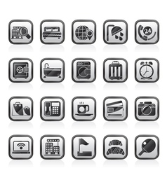 Hotel and motel services icons 1 vector