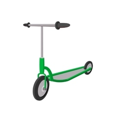 Kick scooter cartoon icon vector