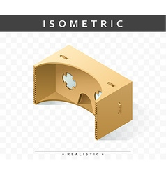 Isometric realistic cardboard glasses virtual vector