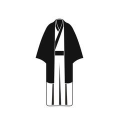 Black japanese kimono icon simple style vector image