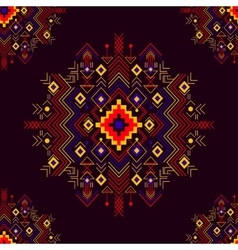 seamless festive tribal pattern vector image