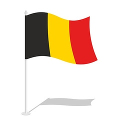 Flag of belgium official national symbol of vector