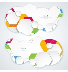 Abstract banners backgrounds eps10 format vector