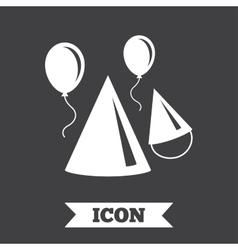 Party hat sign icon birthday celebration symbol vector