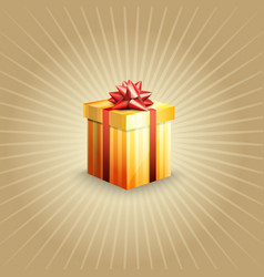 a gift box vector image