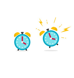 alarm clock icon flat cartoon vector image vector image