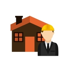 Architect with house isolated icon design vector