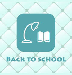 back to school with book reading vector image vector image