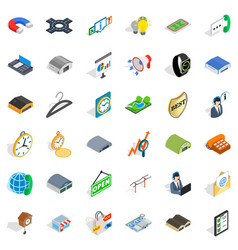 Buying activity icons set isometric style vector