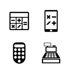 calculators simple related icons vector image vector image