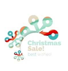 Christmas colorful geometric abstract background vector