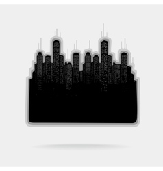 City and Skyscrapers vector image vector image