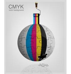 CMYK vector image vector image