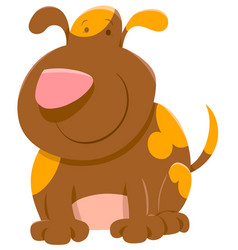 Cute spotted dog cartoon vector