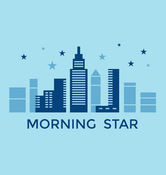 Digital blue city building vector
