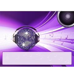 Disco light with message vector image vector image