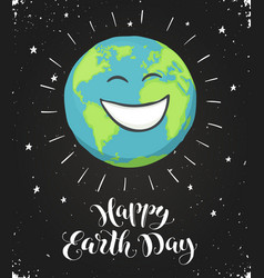 Earth day card vector