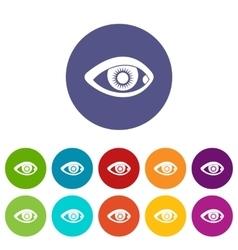 Eye set icons vector image vector image
