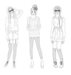 fashion girls bags vector image vector image