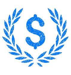 Financial laurel wreath grunge icon vector