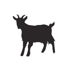 Goat silhouette vector