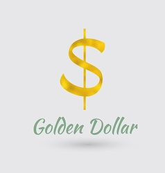 Golden Dollar Symbol vector image