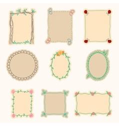 Hand Drawn Frames Set 4 vector image vector image