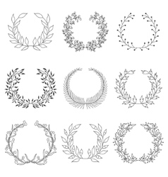 Hand drawn laurels vector image