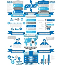 Infographic demographics business blue vector
