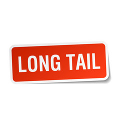 Long tail square sticker on white vector