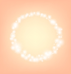 Orange romantic abstrack sparkling circle frame vector