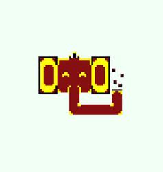 Pixel elephant face vector