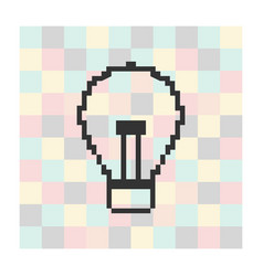 pixel icon light on a square background vector image
