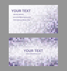 Purple geometric business card template set vector