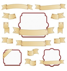 ribbons and frames vector image