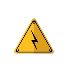 Road sign thunder power energy icon vector