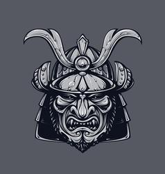 Samurai mask 3 vector