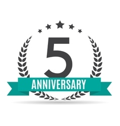 Template logo 5 years anniversary vector