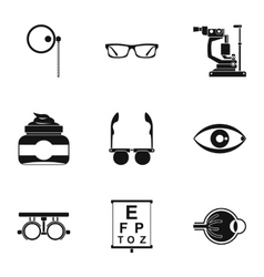 Treatment vision icons set simple style vector