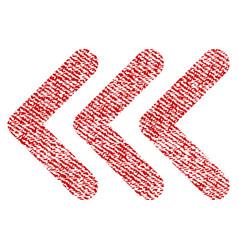 Triple arrowhead left fabric textured icon vector