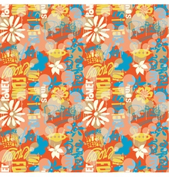 Urban wallpaper vector image vector image