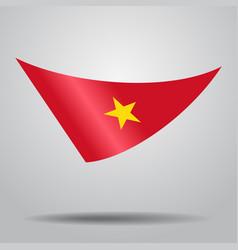 Vietnamese flag background vector
