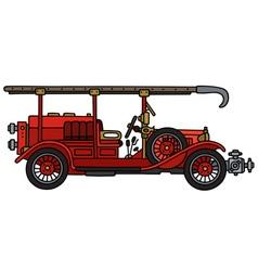 Vintage fire truck vector image vector image