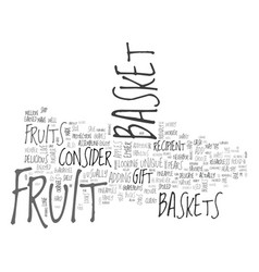 What fruits to add to a fruit basket text word vector