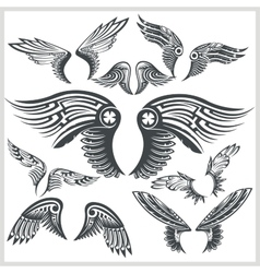 Wings Set Vinyl-ready vector image