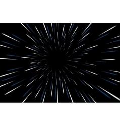 Warp stars galaxy vector image