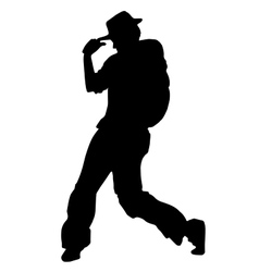 Street dancer in a hat vector image