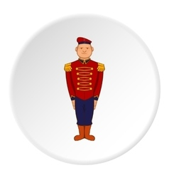 British soldier in uniform icon cartoon style vector