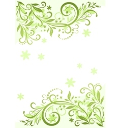 Background with floral pattern vector